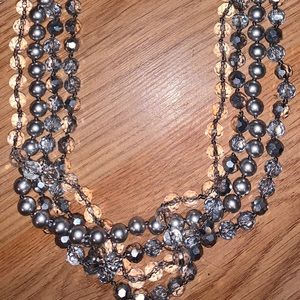 White House Black Market pearl layered necklace